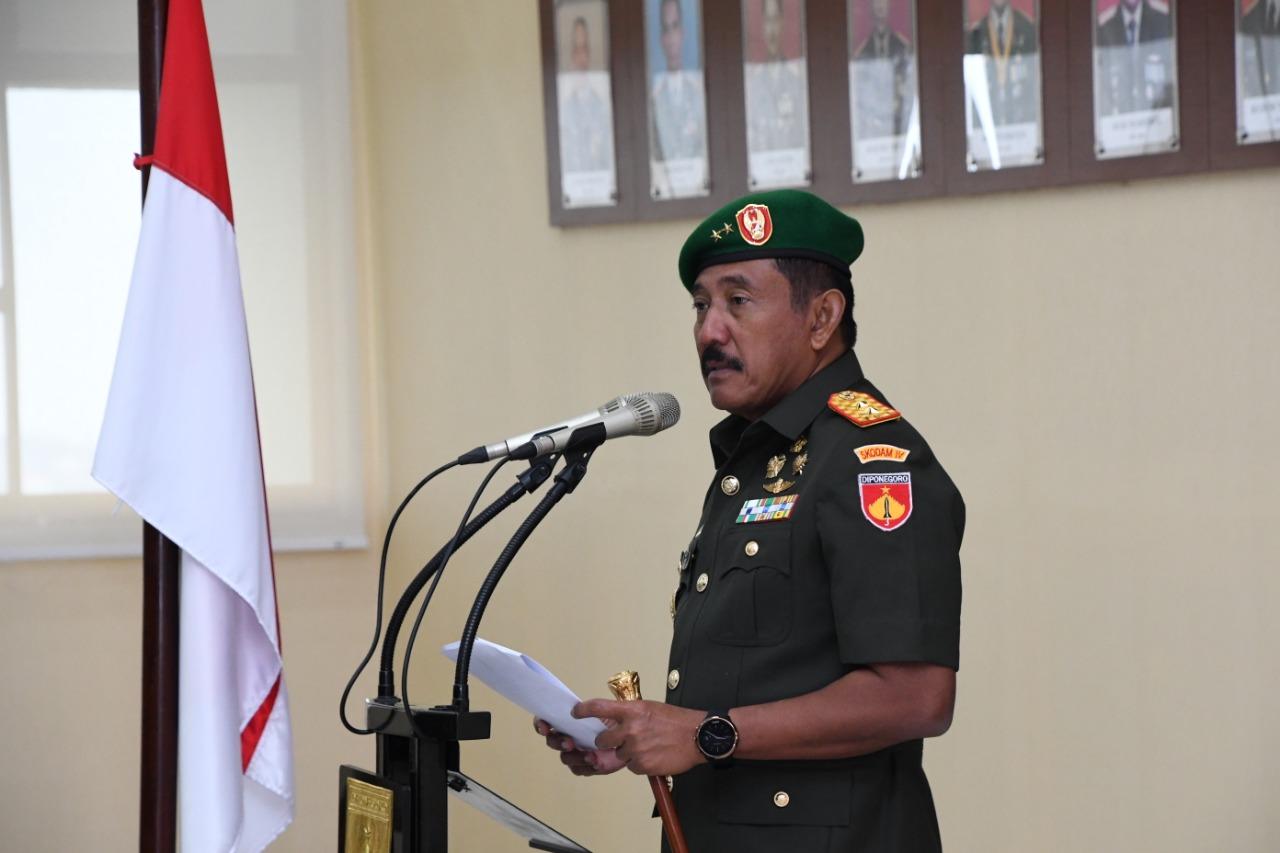 Letkol Caj (K) Dra. Selfie Wahantouw Resmi Jabat Kaajendam, Usai Dilantik Pangdam IV/Diponegoro