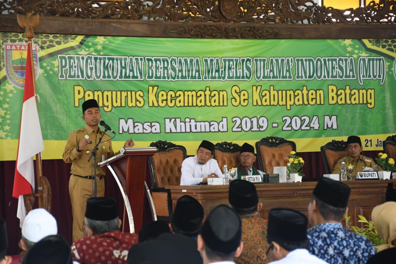 Bupati Batang Wihaji Minta Dukungan MUI Bangun Islamic Center di Banyuputih