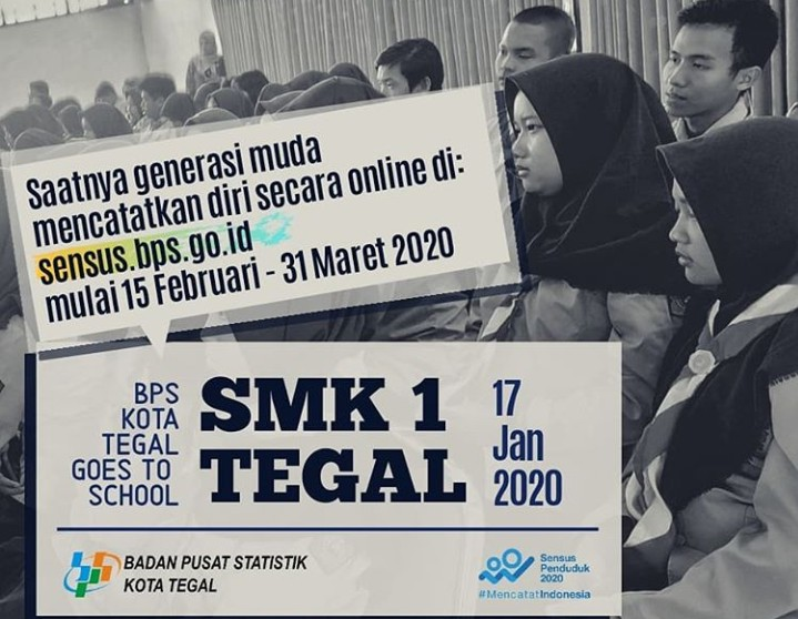 GOES TO SCHOOL, BPS Kota Tegal Kunjungi SMK I Tegal