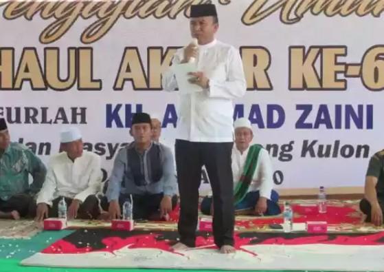 Haul Almarhum KH. Achmad Zaini Nadhif, Jumadi: Ini Bukti Amalan Beliau Barokah