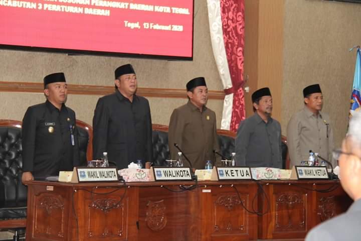 Wali Kota Tegal di Minta Segera Tindak Lanjuti Raperda Yang Disetujui Dewan