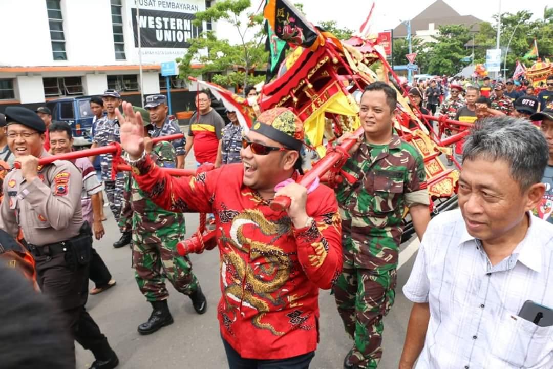 CAP GO MEH, Walikota Dan Wakil Walikota Tegal Meramaikan Tao Pe Kong