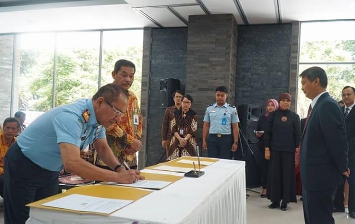 Dies Natalis Ke-74 FH UGM, KaKanWil Kemenkumham DIY Tandatangani Perjanjian Kerjasama
