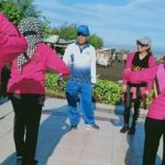 Gunakan Sepeda, Jumadi Blusukan Bersama Isteri Hingga Senam Bersama di Wisata PAI