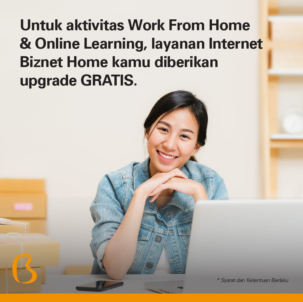 Dukung Work From Home dan Online Learning, Layanan Biznet Home Gratis