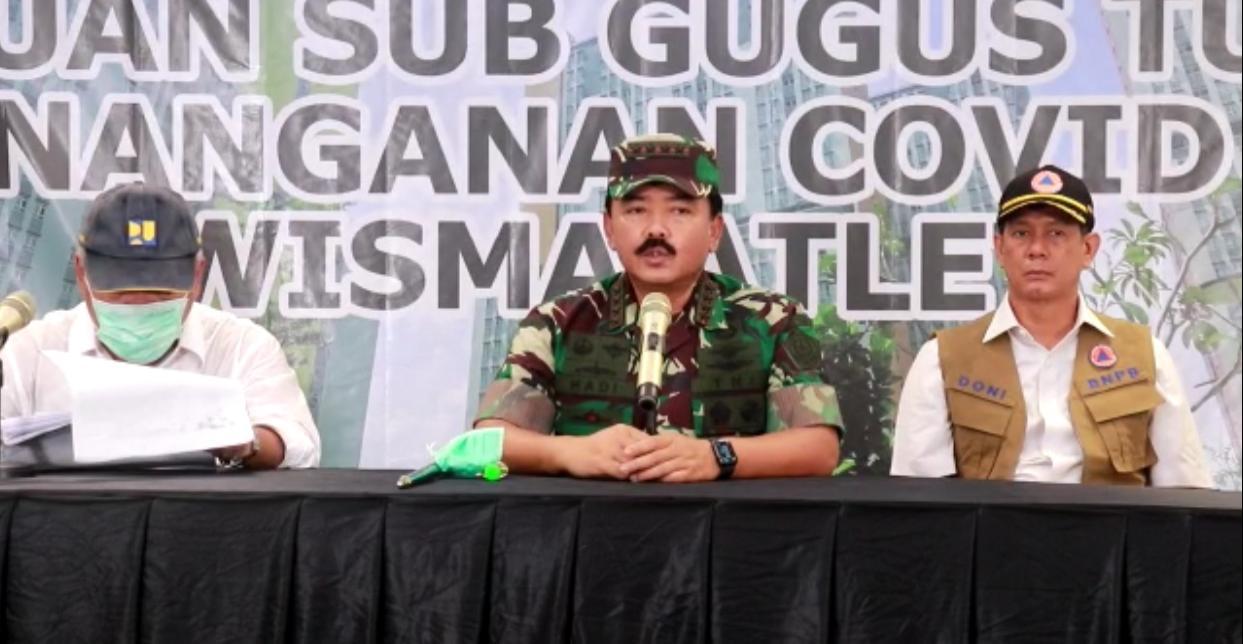 Panglima TNI Tinjau RS Darurat Wisma Atlet Kemayoran