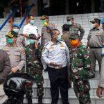 Dandim 0505/JT Bersama  Kapolres Jakarta Timur  Sambangi Pasar Pramuka