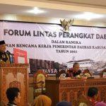 Bupati Resmi Buka Forum Lintas PD Dalam Penyusunan RKPD 2021