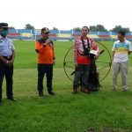 Kolaborasi Dengan Paramotor Indonesia, Wawalkot Tegal Gencarkan Pencegahan Covid-19