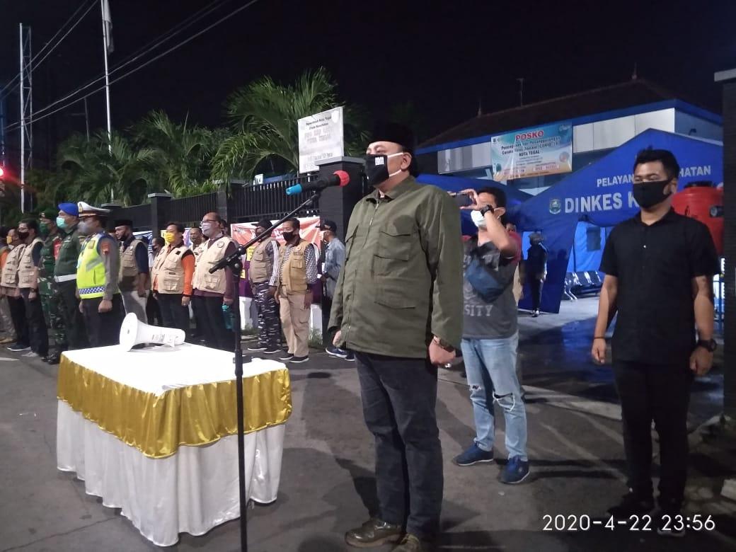 Ditandai Sirine Panjang, Tepat Pukul 00:00 Wib PSBB Kota Tegal Resmi Diberlakukan