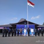 Hari Pertama Pemberlakuan PSBB, Pemkot Tegal Lantik Pejabat Eselon Sambil Berjemur