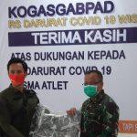 Bersama PT Kufi, Artis Choky Sihotang Berikan Bantuan RSD Wisma Atlet