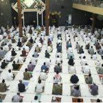 Pelaksanaan Sholat Ied di Masjid Agung Kota Tegal Tetap Perhatikan Protokol Kesehatan