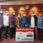 PWI Terima Sumbangan 50 Ribu Masker dari Gajah Tunggal Grup