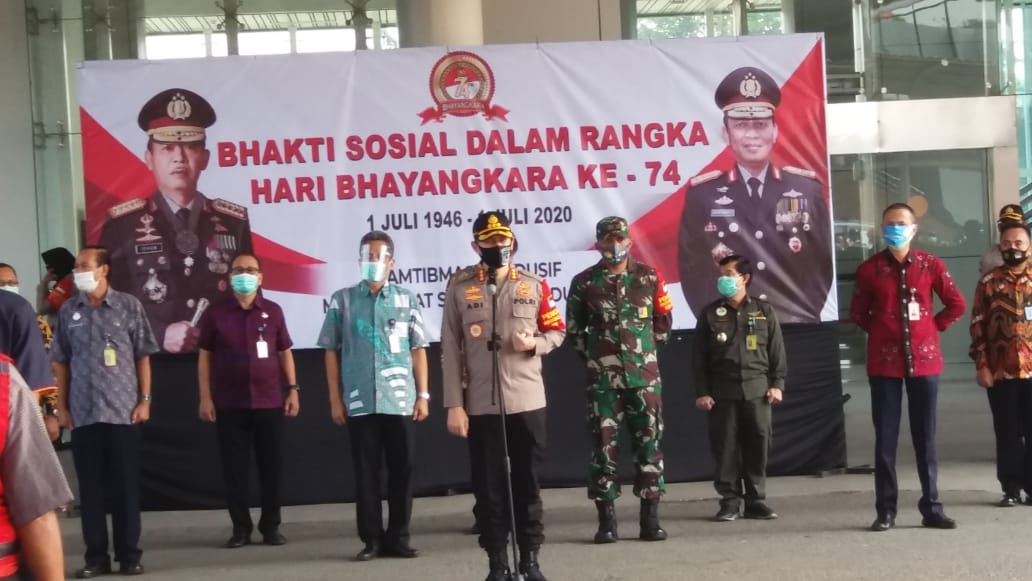 Kolonel Infanteri Wisnu Kurniawan, Dandim 0506/ Tangerang Baksos HUT Bhayangkara Polres Bandara Soetta