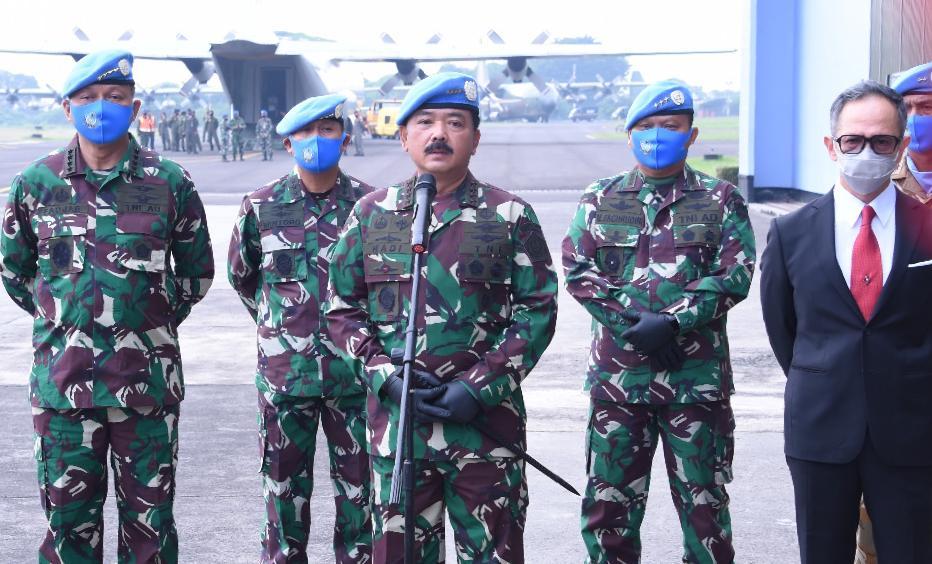 Panglima TNI Lepas Jenazah Prajurit Gugur di Kongo