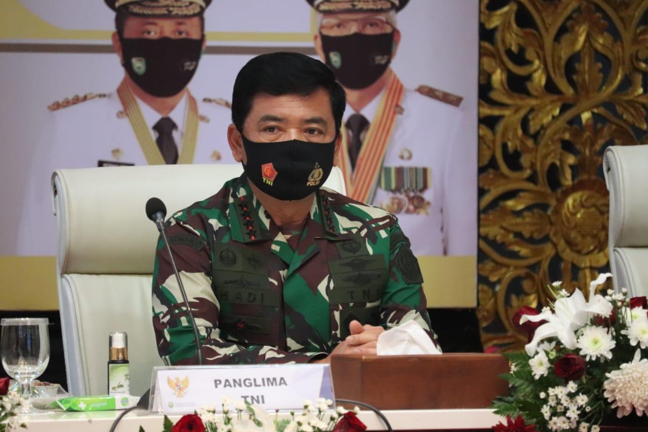 Panglima TNI Pimpin Rapat Gugus Tugas Covid 19 di Sumatera Selatan