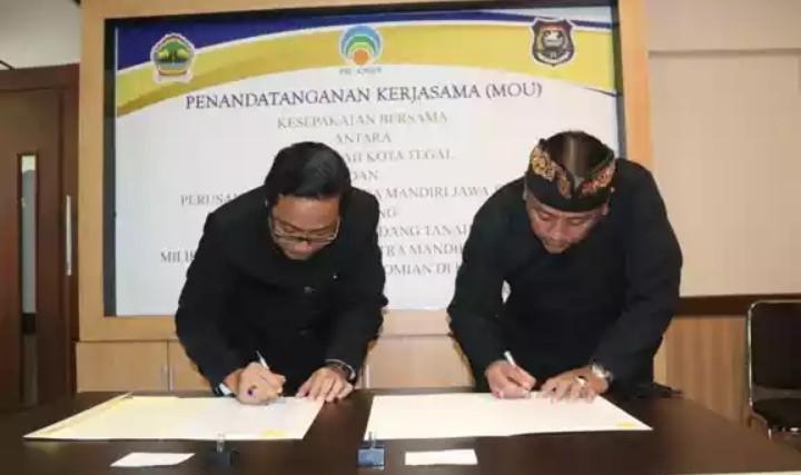 Jalin Kesepakatan Kerjasama dengan Perusda CMJT, Pemkot Tegal Wacanakan Bangun PUJASERA