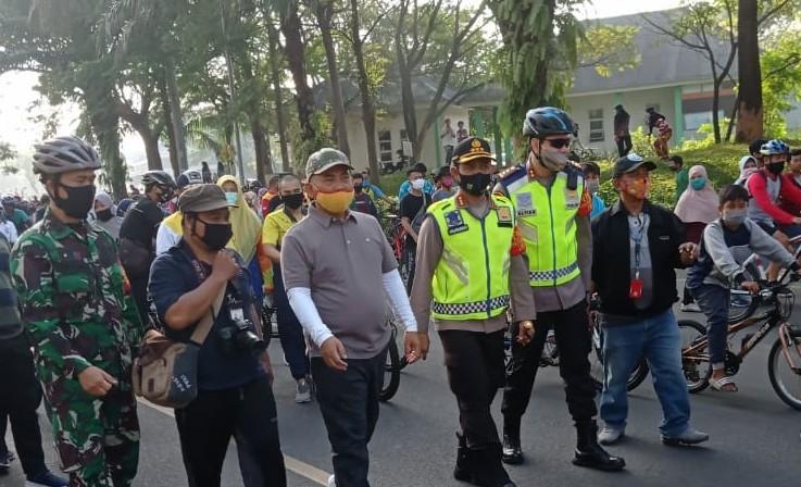 Wali Kota, Dandim 0507 dan Kapolres Metro Bekasi Kota Monitoring Car Free Day Masa New Normal