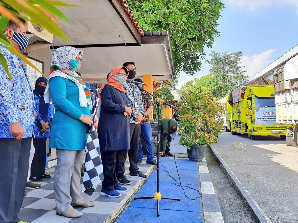 Bupati Tegal Launching Penyaluran Jaring Pengaman Sosial Covid 19