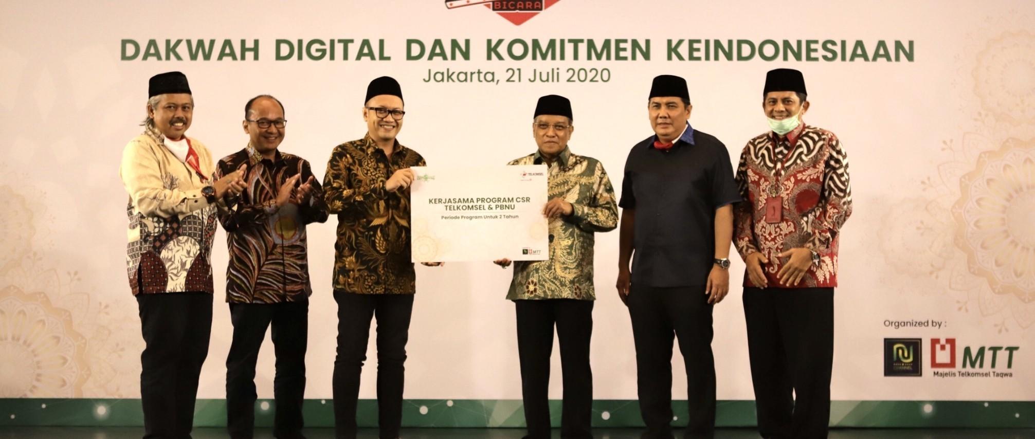 Kolaborasi Telkomsel, PB NU Hadirkan Program Menjaga Nilai Keindonesian dan Kerohanian