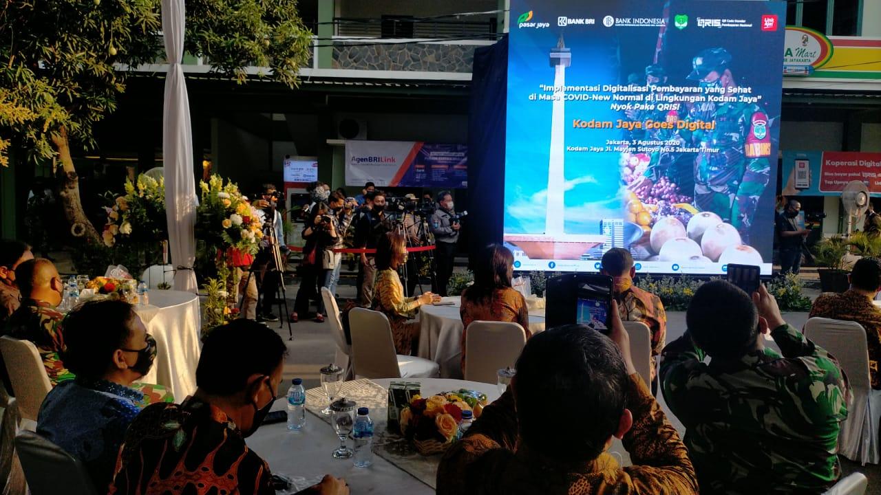Bank Indonesia Launching QUICK RESPONSE INDONESIA STANDARD Bersama Kodam Jaya