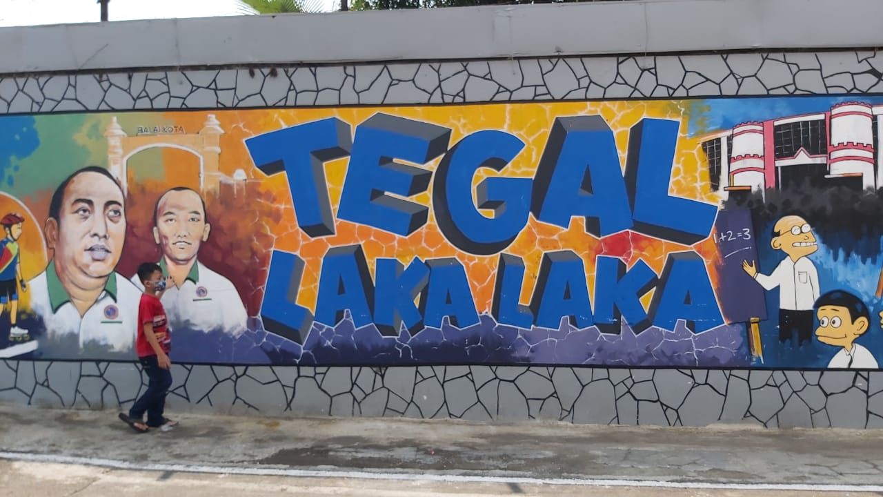 Mural Art Tampilkan Lukisan Wajah Pemimpin Kota Tegal