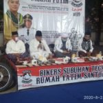 Santuni Yatim Piatu, Jumadi Ajak Bikers Tingkatkan Semangat Sholat Subuh Berjamaah