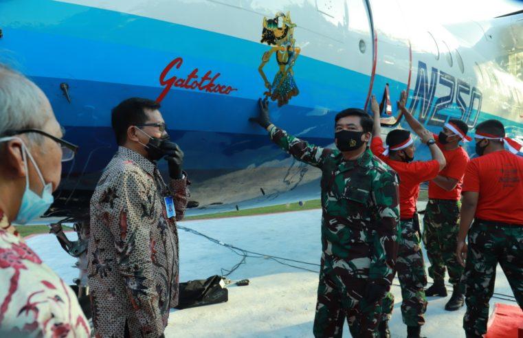 Panglima TNI Resmikan Monumen Pesawat N250 Gatot Kaca