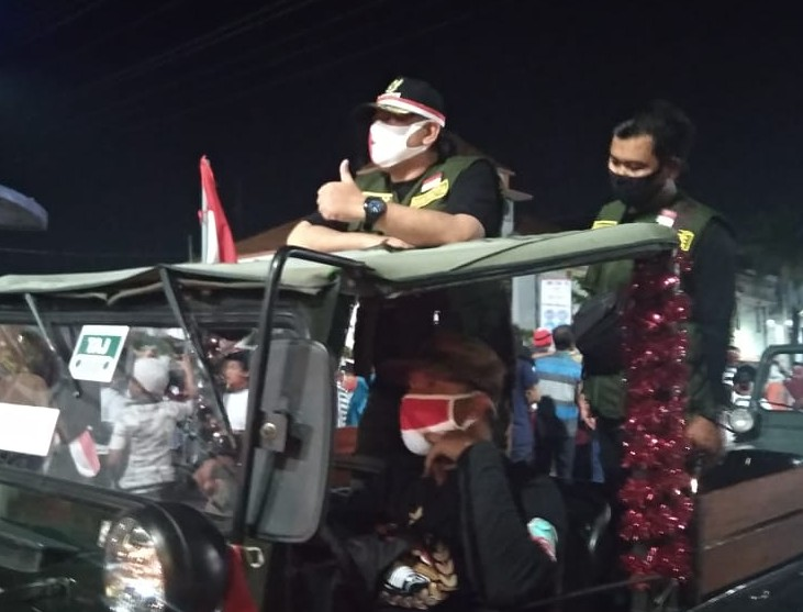 Naiki Jeep, Wali Kota Tegal Awali Kirab Merah Putih HUT Ke 75 Kemerdekaan Republik Indonesia