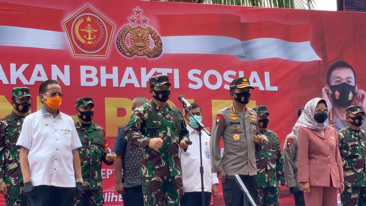 Panglima TNI dan Kapolri Lepas  Satgas Pendisiplinan Protokol Kesehatan