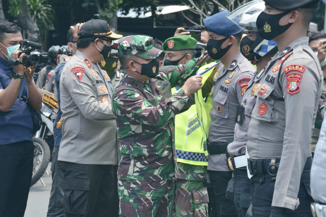 Jakarta Launching Tim Khusus Penindak Pelanggar Protokol Kesehatan Covid 19 Berbasis Ojek Online