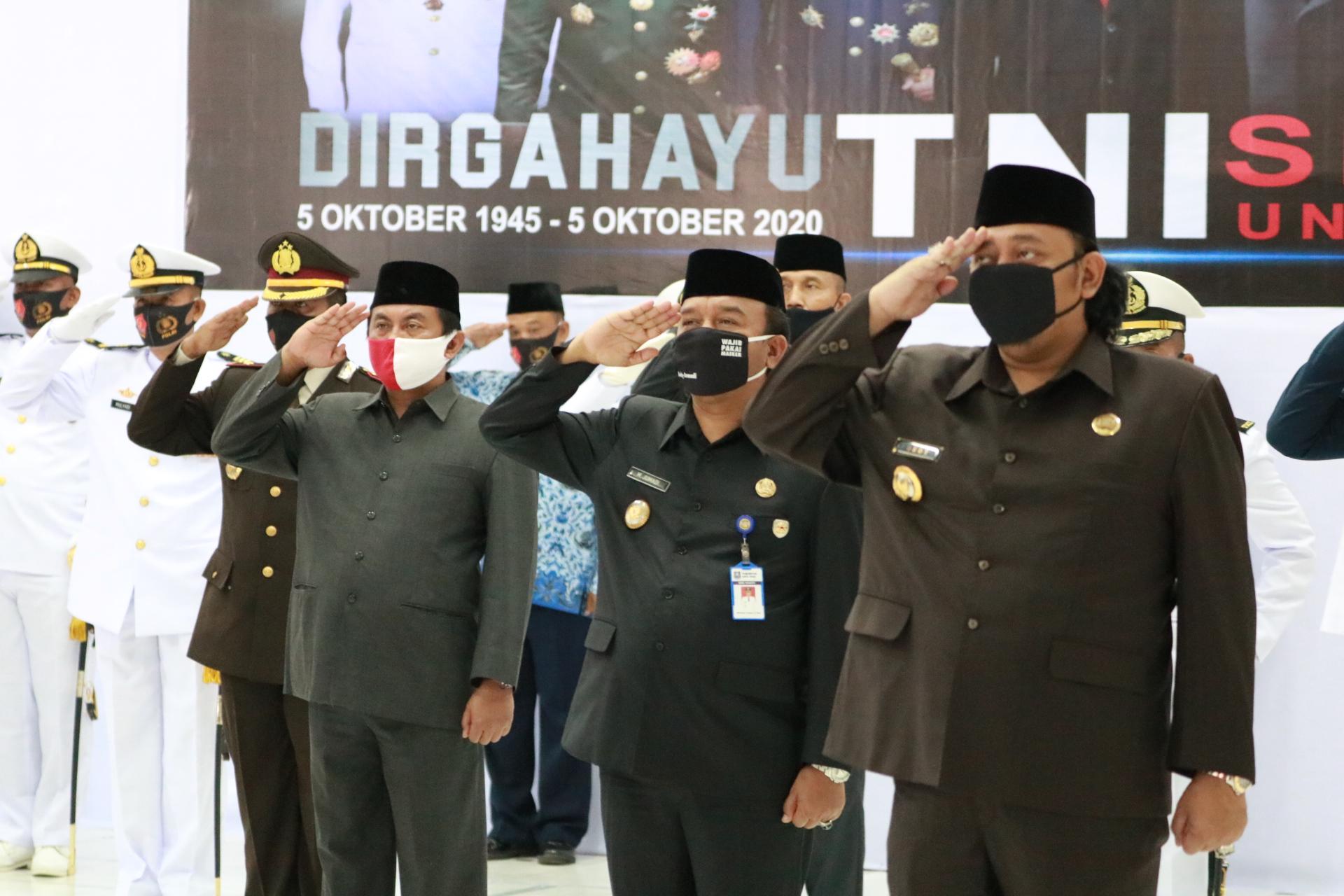 Di Tegal, Upacara HUT Ke 75 TNI Dilaksanakan Secara Virtual