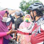 Sambil Gowes Pagi Wawalkot Tegal Berikan Imbauan dan Edukasi