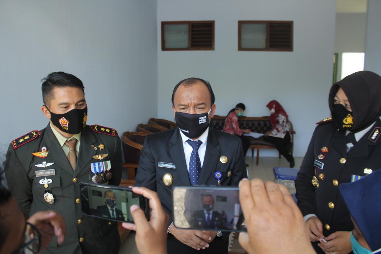 HUT Ke 75 TNI, Jajaran Forkompinda Kota Tegal Rapid Test Antigen dan Swab