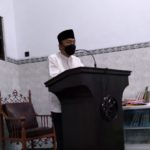 Sholat Tarawih Bersama di Masjid Nasta'in, Jumadi Gencarkan Imbauan Kesadaran Disiplin Protokol Kesehatan